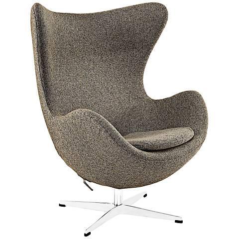 Glove Modern Oatmeal Fabric Lounge Chair