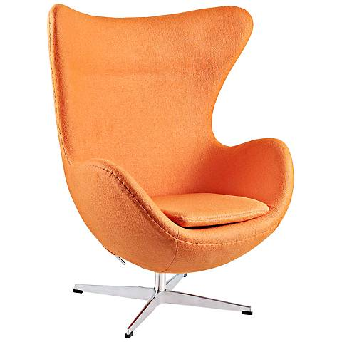 Glove Modern Orange Fabric Lounge Chair