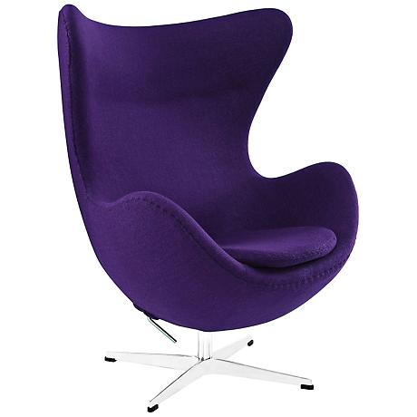 Glove Modern Purple Fabric Lounge Chair