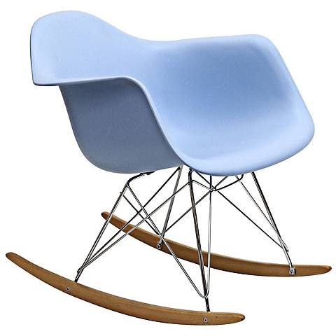 Phinnaeus Modern Blue Rocker Lounge Chair