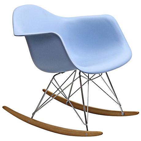 Phinnaeus Modern Blue Rocker Lounge Chair