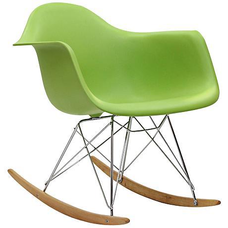 Phinnaeus Modern Green Rocker Lounge Chair