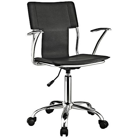 Studio Chrome Black Swivel Office Chair