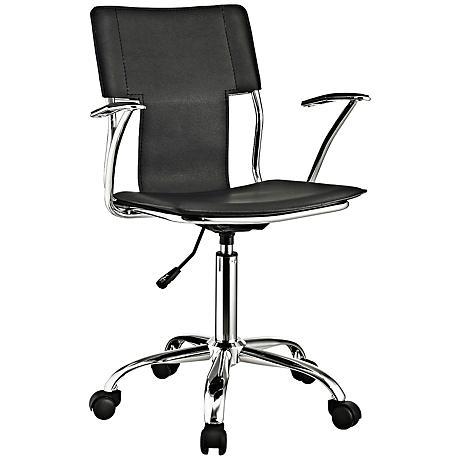 Studio Chrome Black Swivel Office Chair