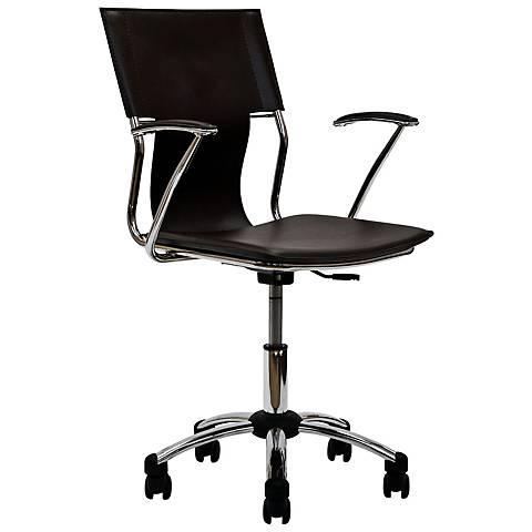Studio Chrome Brown Swivel Office Chair