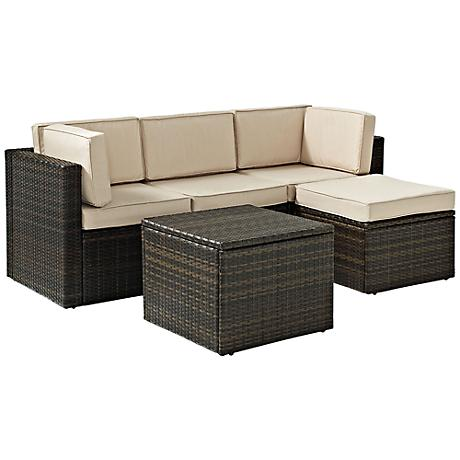 Palm Harbor 5-Piece Outdoor Wicker Sectional Seating Set