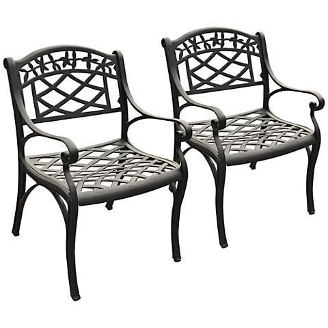 Sedona Charcoal Black Outdoor Armchair Set of 2