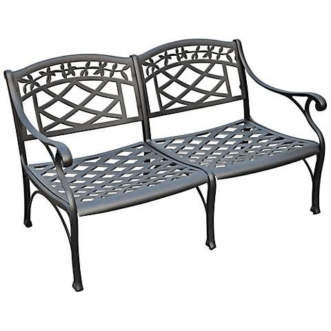 Sedona Charcoal Black Outdoor Loveseat