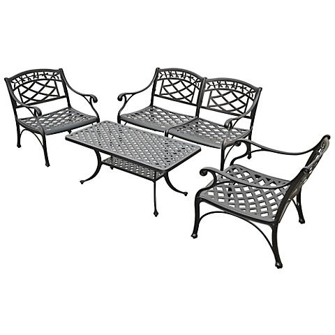 Sedona 4-Piece Charcoal Outdoor Conversation Seating Set