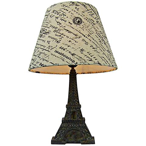 "Eiffel Tower Paris 15 3/4""H Brown Slate Accent Table Lamp"
