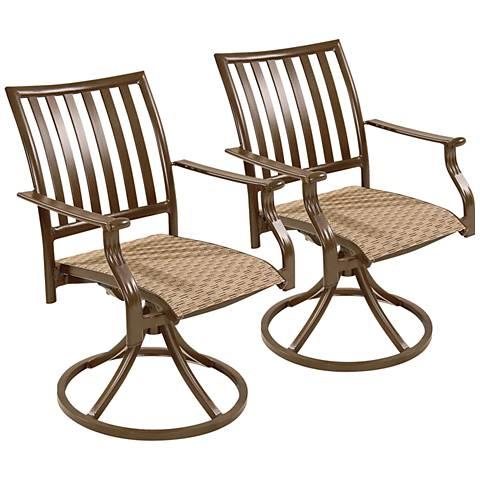 Panama Jack Island Breeze Patio Swivel Chair Set of 2