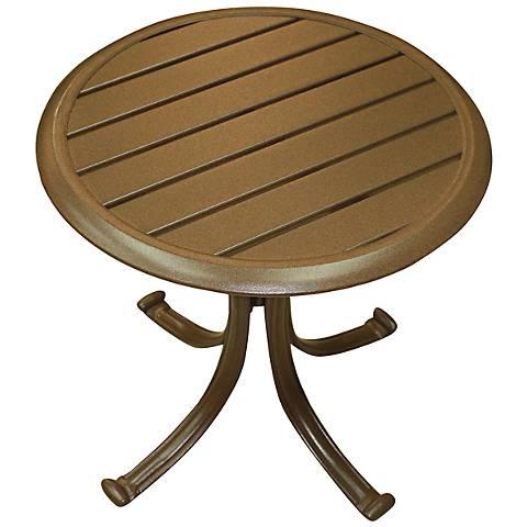 Panama Jack Island Breeze Round Patio End Table