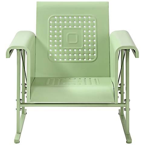 Veranda Oasis Green Retro Outdoor Single Chair Glider