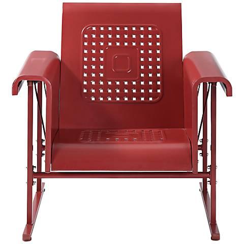 Veranda Coral Red Retro Outdoor Single Chair Glider