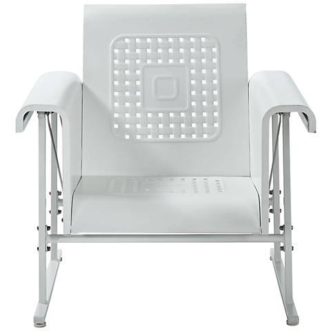 Veranda Alabaster White Retro Outdoor Single Chair Glider