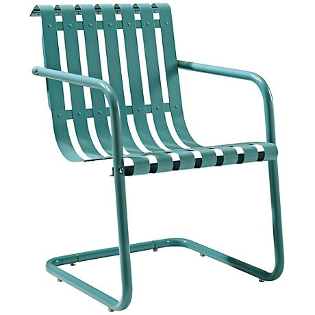 Gracie Caribbean Blue Outdoor Retro Spring Chair