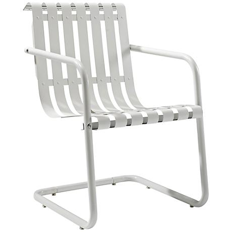 Gracie Alabaster White Outdoor Retro Spring Chair