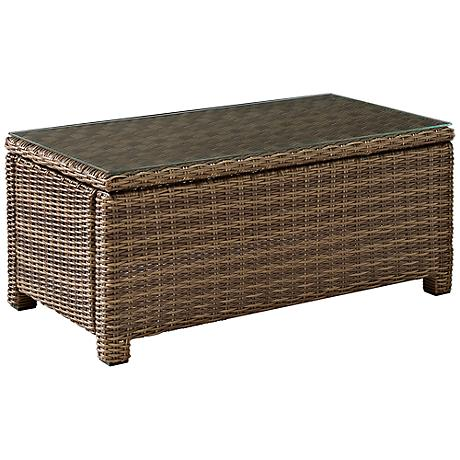Biltmore Rattan Wicker Outdoor Glass-Top Cocktail Table