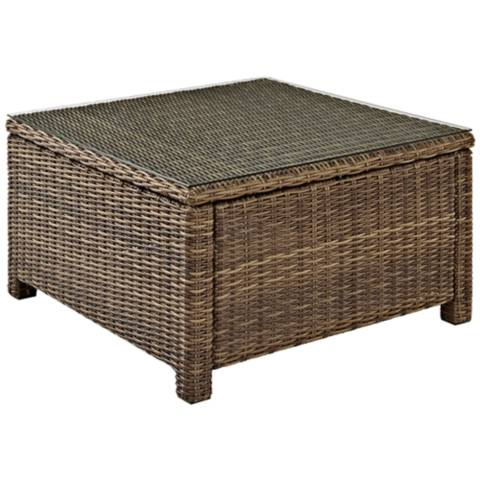 Bradenton Outdoor Wicker Sectional Coffee Table 7k193
