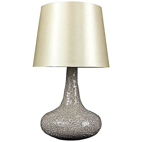 Genie Champagne Mosaic Tiled Glass Accent Table Lamp
