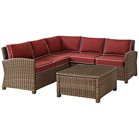 Bradenton 4-Piece Outdoor Sangria Sectional Seating Set