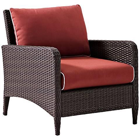 Kiawah Sangria Outdoor Wicker Armchair