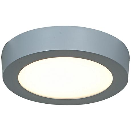 "Strike 7"" Wide Silver Low-Profile Round LED Ceiling Light"