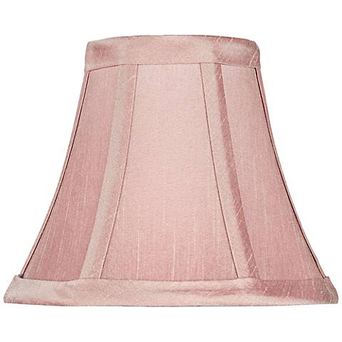Dusty Rose Pink Bell Lamp Shade 3x6x5 (Clip-On)
