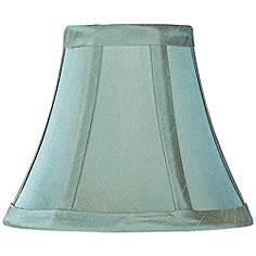 Chandelier Lampshade: Blue Green Bell Lamp Shade 3x6x5 (Clip-On),Lighting