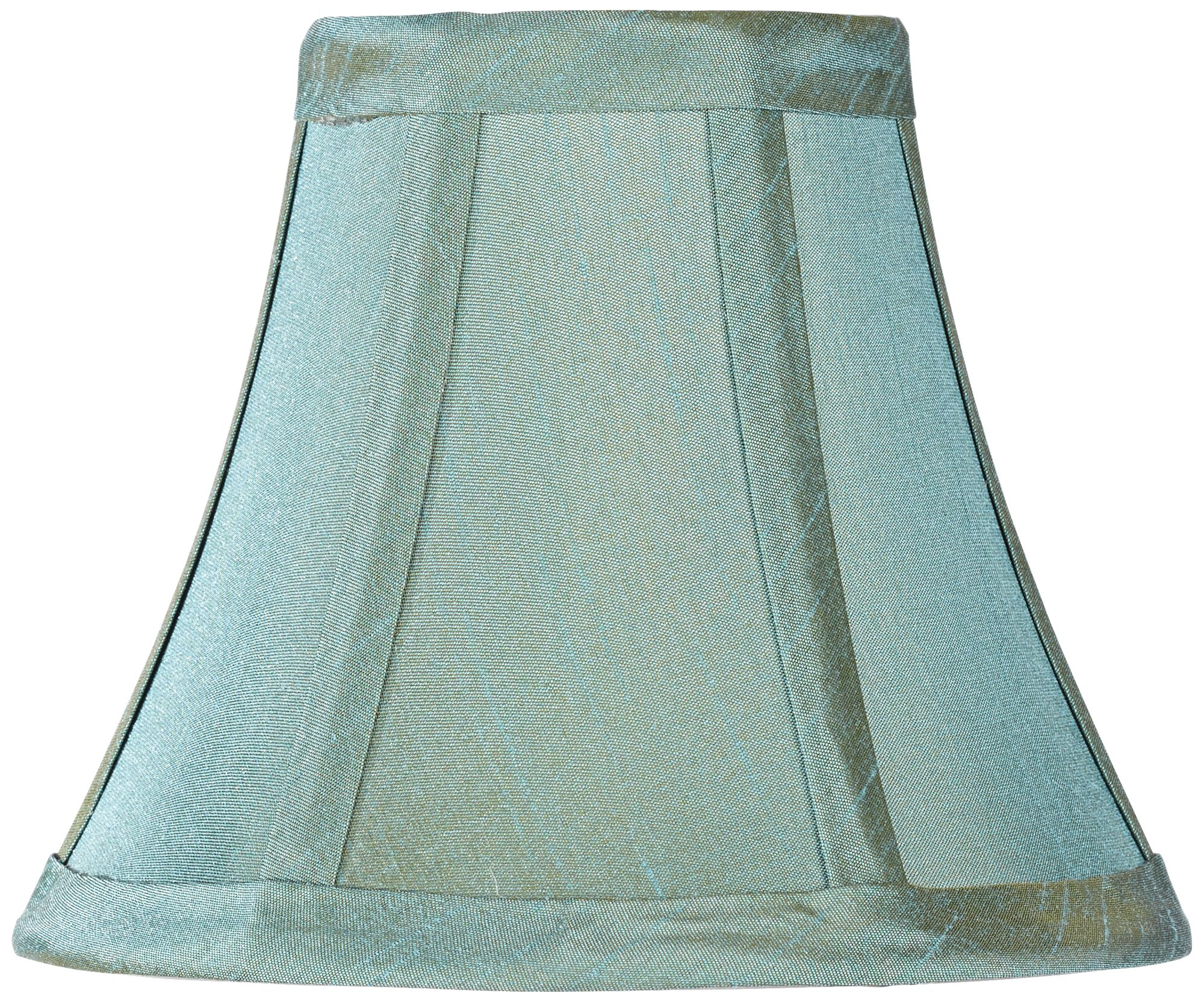 Chandelier lamp shades roselawnlutheran blue green bell lamp shade 3x6x5 clip on arubaitofo Choice Image