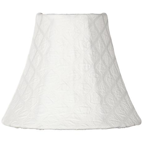 White Diamond Pattern Bell Lamp Shade 3x6x5 (Clip-On)
