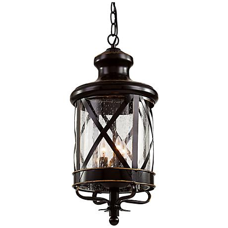 """New England 25 1/4""""H Oil-Rubbed Bronze Outdoor Wall Light"""
