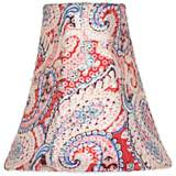 Pink Paisley Sequin Bell Shade 3x6x6 (Clip-On)