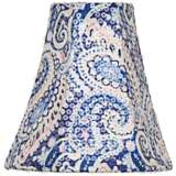 Blue Paisley Sequin Bell Shade 3x6x6 (Clip-On)