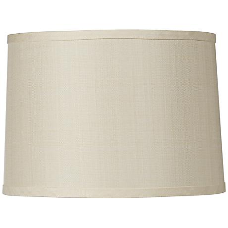 Cream Linen Blend Hardback Drum Shade 15x16x11 (Spider)