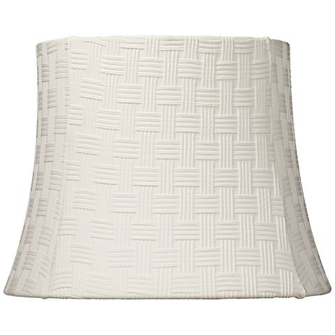 White Weave Pattern Square Lamp Shade 10x13x10 (Spider)