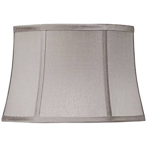 Pewter Gray Drum Lamp Shade 10x12x8 (Spider)