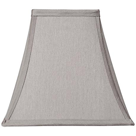 Pewter Gray Square Shade 5.25x10x9.5 (Spider)