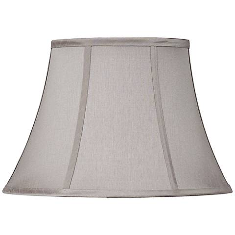 Pewter Gray Oval Lamp Shade 7/9x13/15x10.5 (Spider)