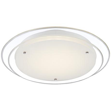 """Possini Euro Holi Chrome 15 3/4"""" Wide LED Ceiling Light"""