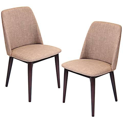 Tintori Medium Brown Modern Dining Chair Set of 2