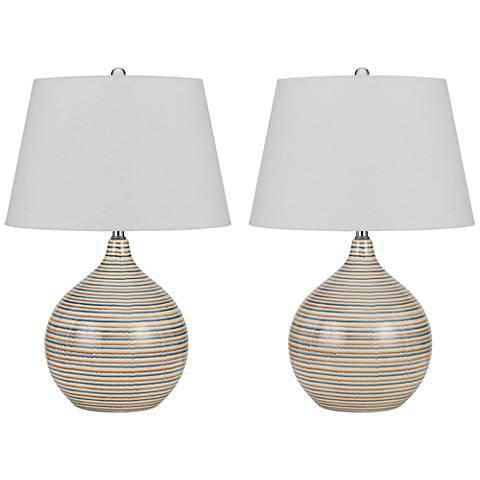 Frida Terra Cotta Ceramic Table Lamp Set of 2