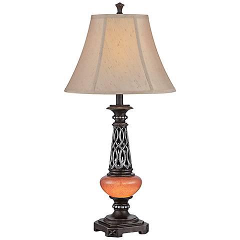 Lite Source Ellis Dark Bronze Night Light LED Table Lamp