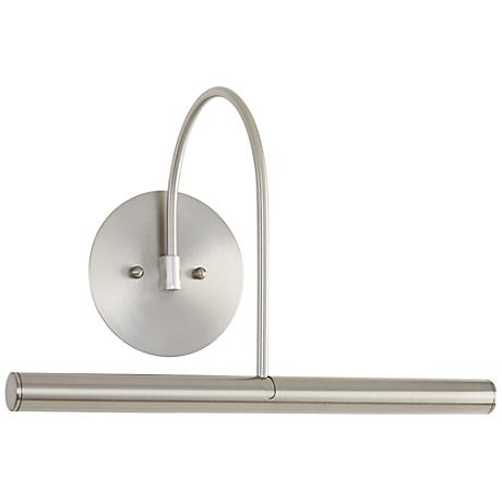 """House of Troy 14""""W Direct Wire Satin Nickel Picture Light"""