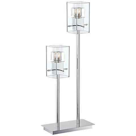 Lite Source Aida 2-Light Chrome Metal Table Lamp