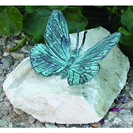 """Henri Studios Verde Butterfly 4"""" High Garden Accent Set of 4"""
