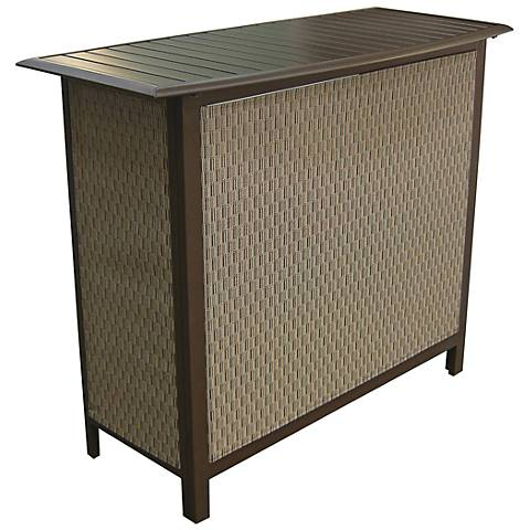Panama Jack Island Breeze Slat-Top Aluminum Patio Bar