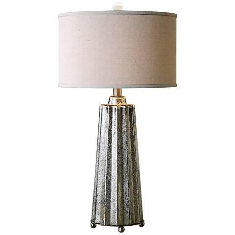 Uttermost Sullivan Mercury Glass Fluted Column Table Lamp