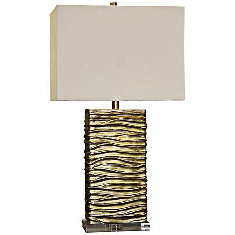 Chateau Gold Ribbed Table Lamp