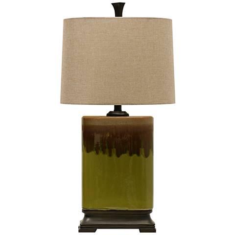 Richton Alton Moss Green Table Lamp